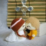 Вязаные свадебные куклы