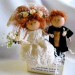 Свадебные куклы с рыжими волосами