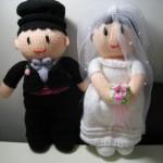 Пухлые свадебные куклы жениха и невесты