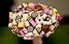 Свадебный букет из конфет для невесты