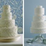 Свадебные торты, украшенные кружевами