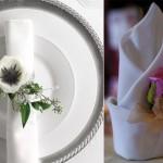 Свадебные салфетки, декорированные розами