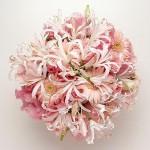 Нежно-розовый свадебный букет невесты