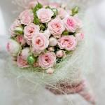 Розовый свадебный букет для невесты