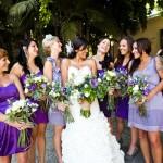 Свадебные наряды в фиолетово-сиреневой цветовой гамме