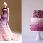 И торт, и свадебный наряд в одном стиле!
