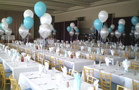 Украшение свадьбы воздушными шариками