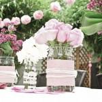 Розовые цветы для свадебной церемонии