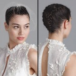 Аккуратно собранные в косички волосы невесты