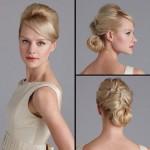 Невеста со стильно уложенными волосами