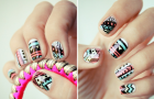 funky-wedding-nail-art-for-modern-stylish-brides-pastel-with-black-pattern__full-carousel