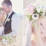 Венок невесты из пышных цветов