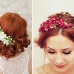Свадебный венок из летних цветов