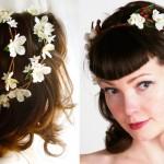 Свадебный венок невесты из белых цветов