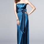 Голубое платье свидетельницы без бретелек