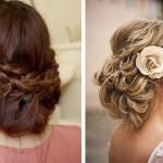 Свадебная прическа невесты с волосами до плеч