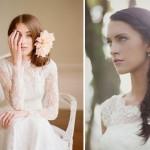 Прическа невесты в стиле винтаж