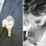 Бутоньерка жениха из роз