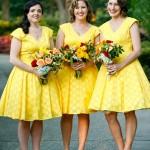 Яркие подружки невесты