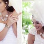 Свадебная шляпка невесты с вуалью и бантом