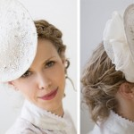 Свадебная шляпка декорированная кружевами
