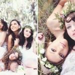 Венки из полевых цветов для невесты