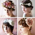 Свадебные венки с цветами пастельных тонов