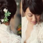 Прическа невесты с цветами в восточном стиле