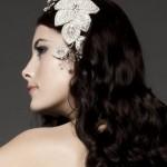 Бриллианты в украшении свадебной прически