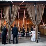 Оформление свадьбы драпировкой шоколадного цвета