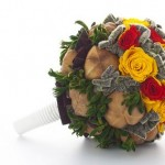 Свадебный букет невесты из плюшевой ткани