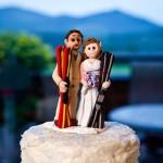 Фигурки для свадебного торта в виде лыжников