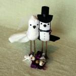 Фигурки ласточек-молодоженов для свадебного торта