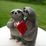 Фигурки для свадебного торта в виде ленивцев