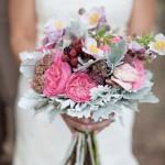 Свадебный букет с ежевикой