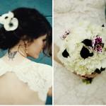 Свадебный букет с вкраплениями черного