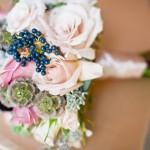 Свадебный букет с лесными ягодами