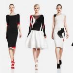 Платья для свидетельницы черно-белой разцветки