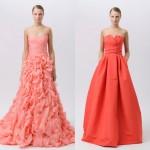 Платья для свидетельницы в персиковом цвете