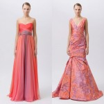 Платья для свидетельницы с пурпурными узорами