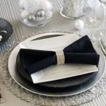 Свадебные салфетки с драгоценной лентой