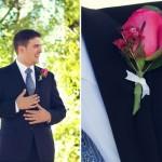 Свадебная бутоньерка из розы