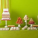 Сладкий свадебный стол в салатовом цвете