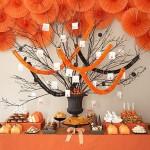 Сладкий свадебный стол в оранжевом цвете