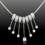 Свадебное колье из белого золота с бриллиантами