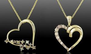 Колье с коньячными бриллиантами из желтого золота2