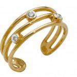 Золотое кольцо с бриллиантами на ногу невесты