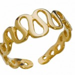 Золотое кольцо на ногу невесты