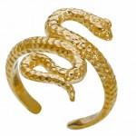 Золотое кольцо на ногу невесты в форме змеи