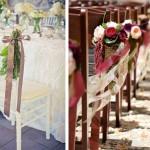 Свадебные стулья, украшенные цветами